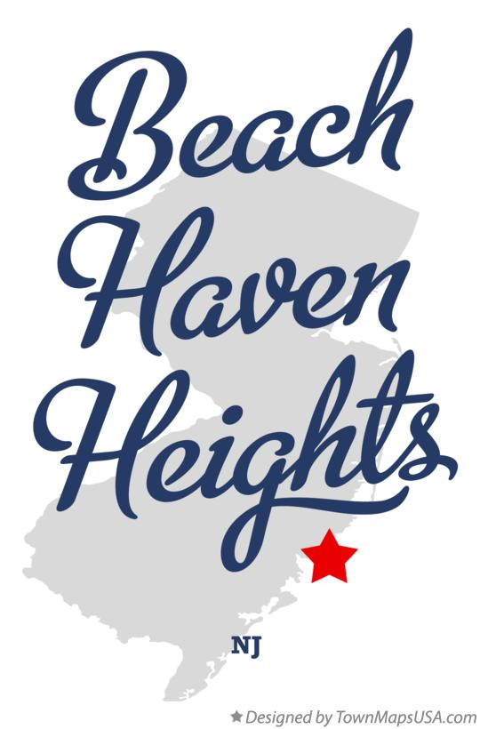 Map of Beach Haven Heights New Jersey NJ