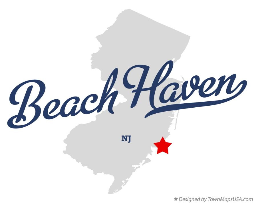 Map of Beach Haven New Jersey NJ