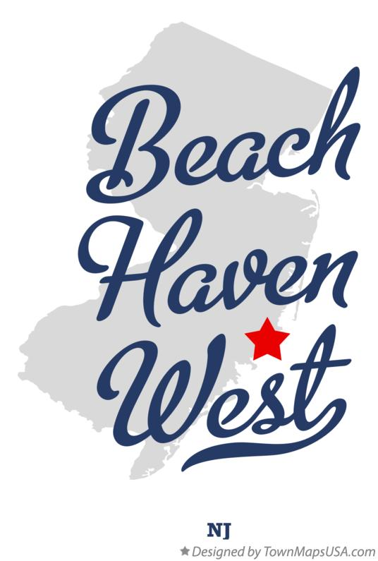 Map of Beach Haven West New Jersey NJ