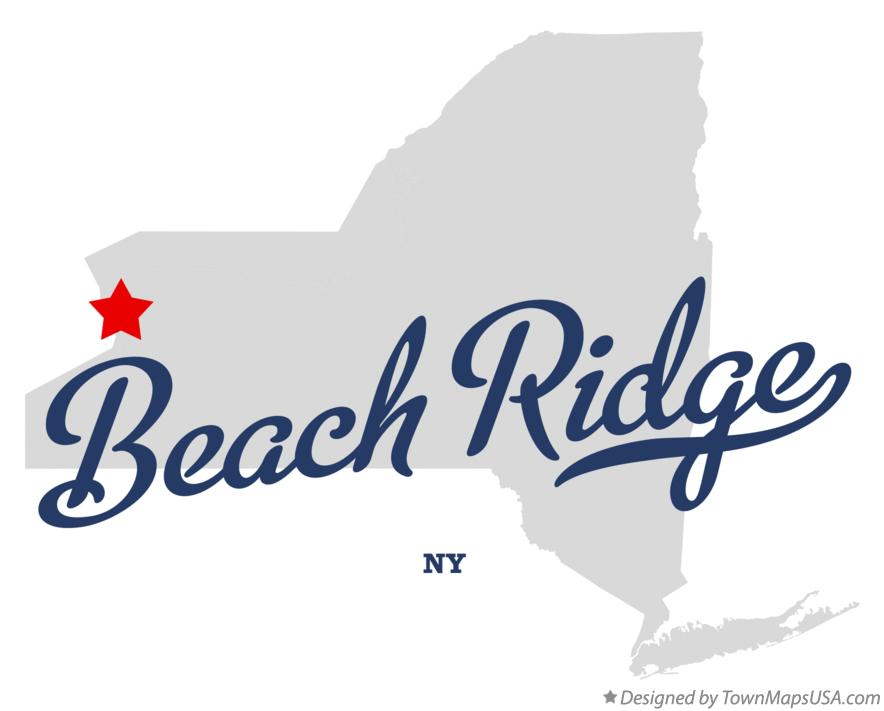 Map of Beach Ridge New York NY