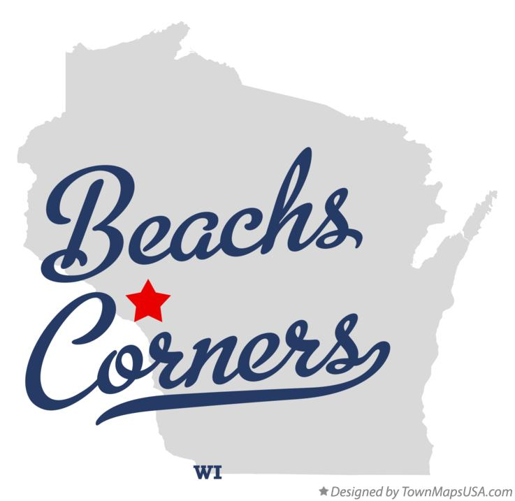 Map of Beachs Corners Wisconsin WI
