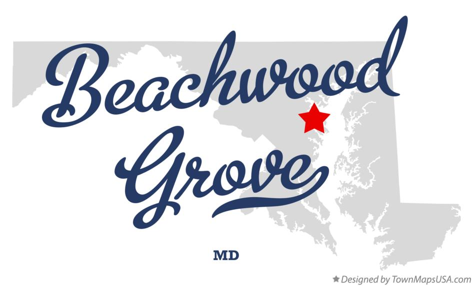Map of Beachwood Grove Maryland MD