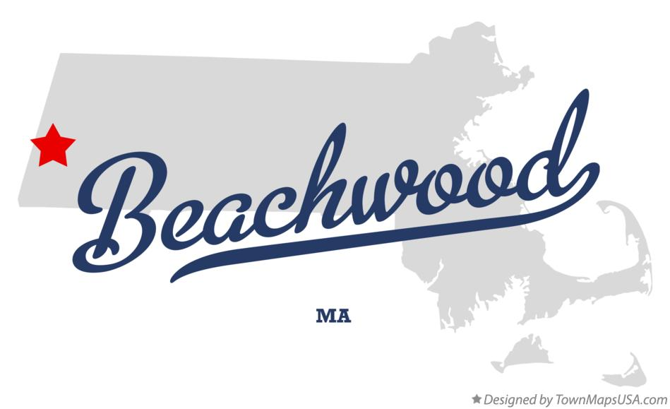 Map of Beachwood Massachusetts MA