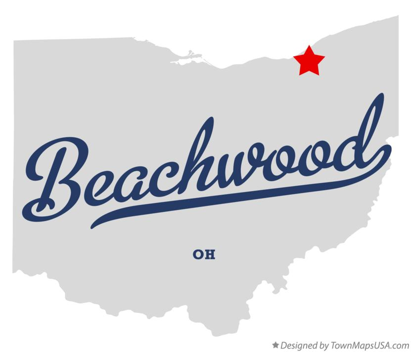 Map of Beachwood Ohio OH