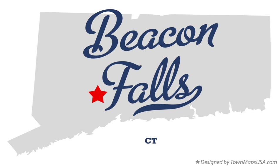 Map of Beacon Falls Connecticut CT