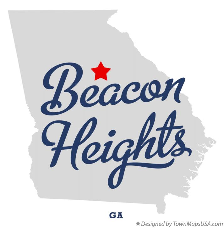 Map of Beacon Heights Georgia GA