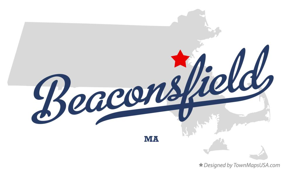 Map of Beaconsfield Massachusetts MA