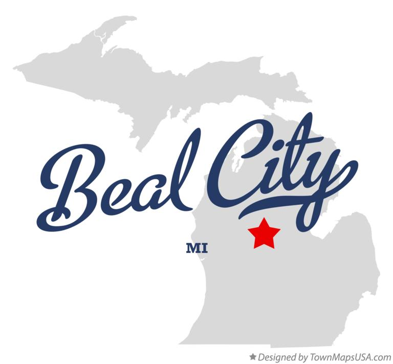 Map of Beal City Michigan MI
