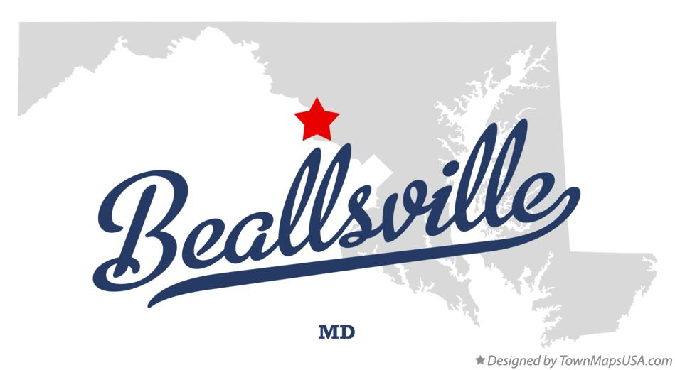 Map of Beallsville Maryland MD