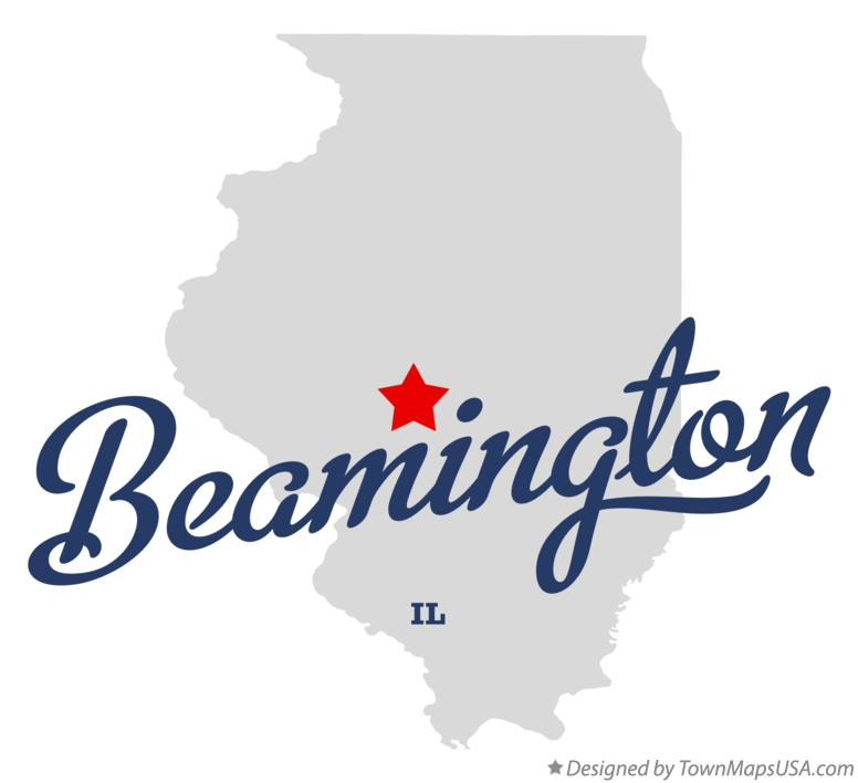 Map of Beamington Illinois IL