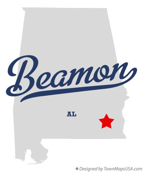 Map of Beamon Alabama AL