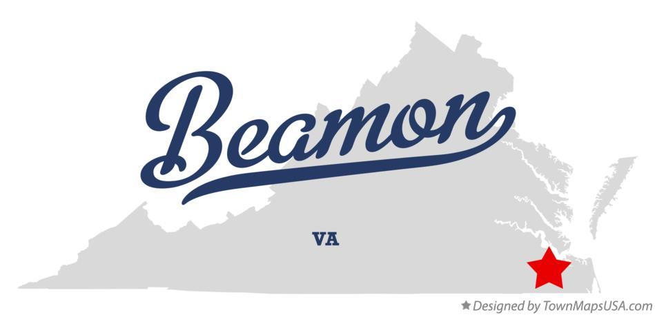 Map of Beamon Virginia VA