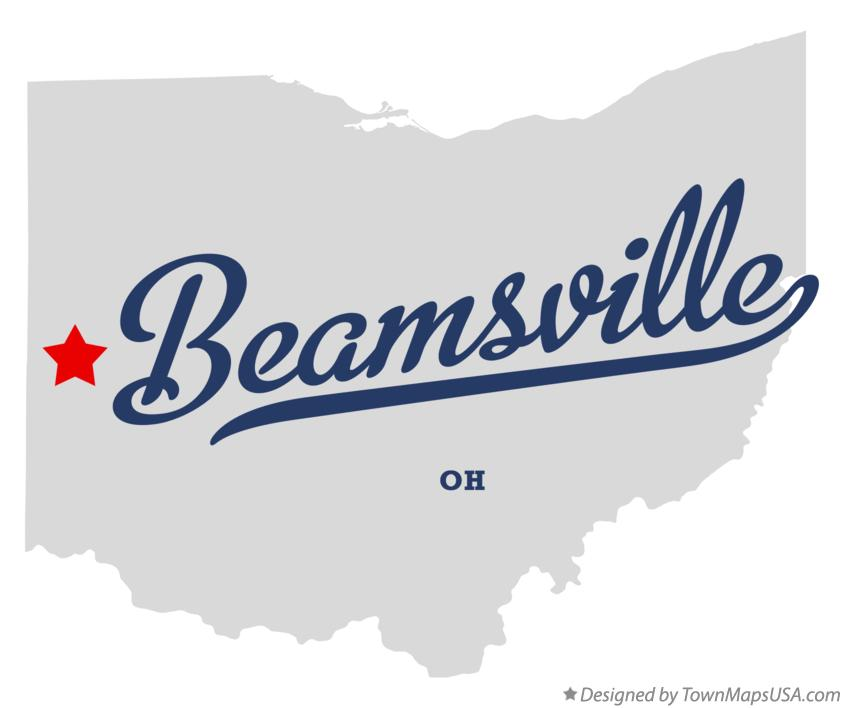 Map of Beamsville Ohio OH