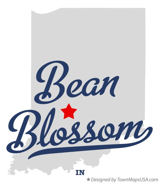 Map of Bean Blossom, IN, Indiana