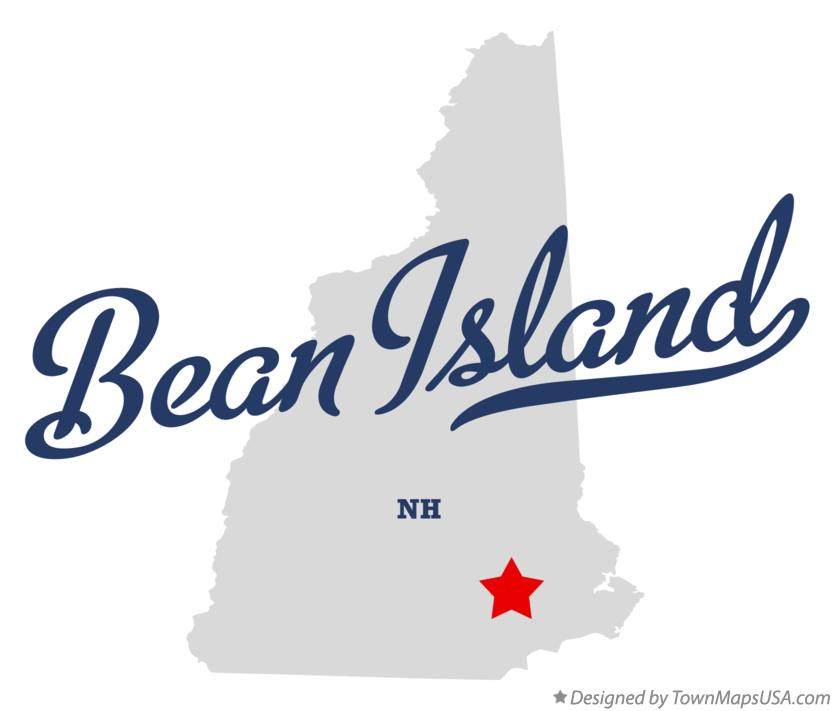 Map of Bean Island New Hampshire NH