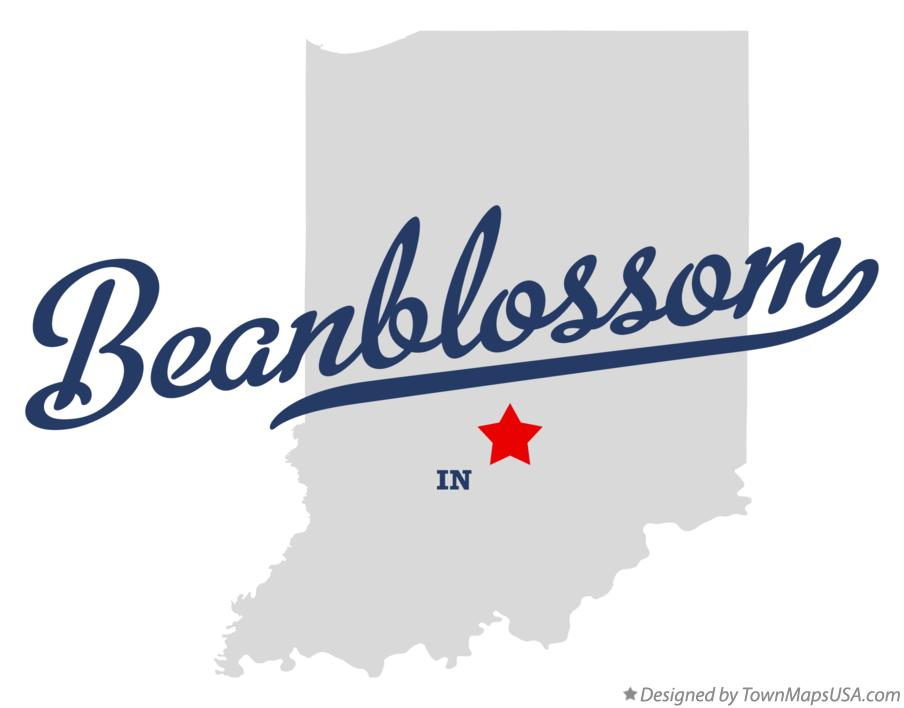 Map of Beanblossom Indiana IN