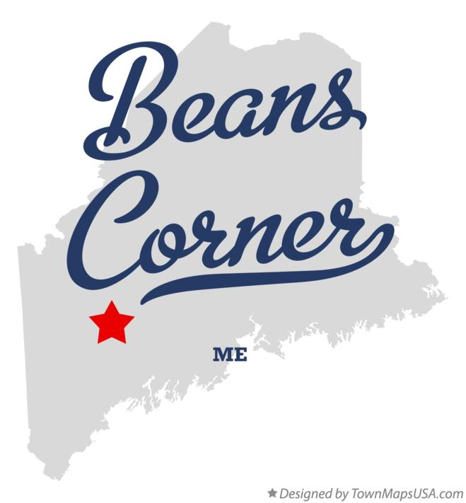 Map of Beans Corner Maine ME