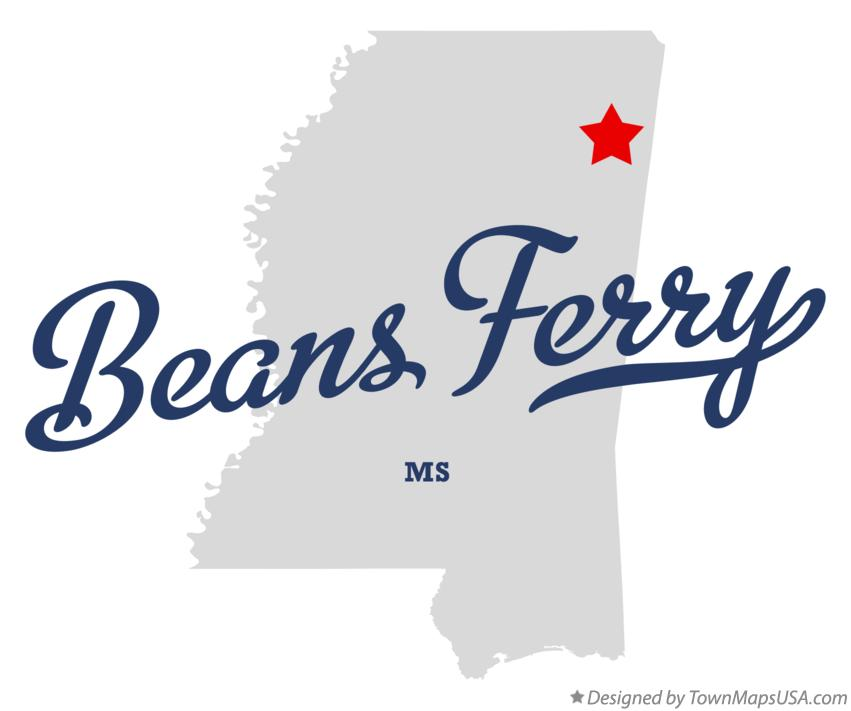 Map of Beans Ferry Mississippi MS
