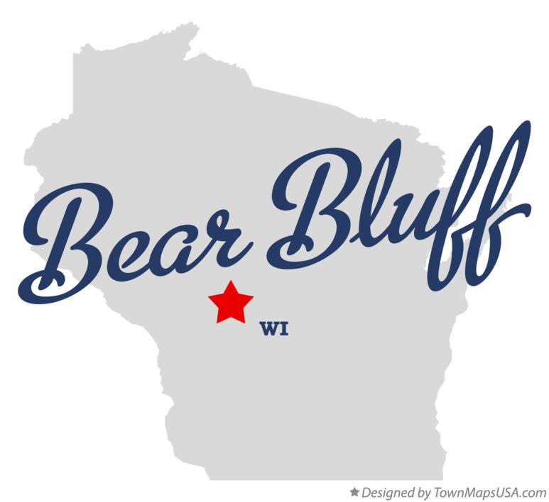 Map of Bear Bluff Wisconsin WI