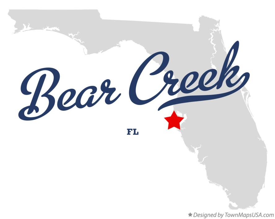 Map of Bear Creek Florida FL
