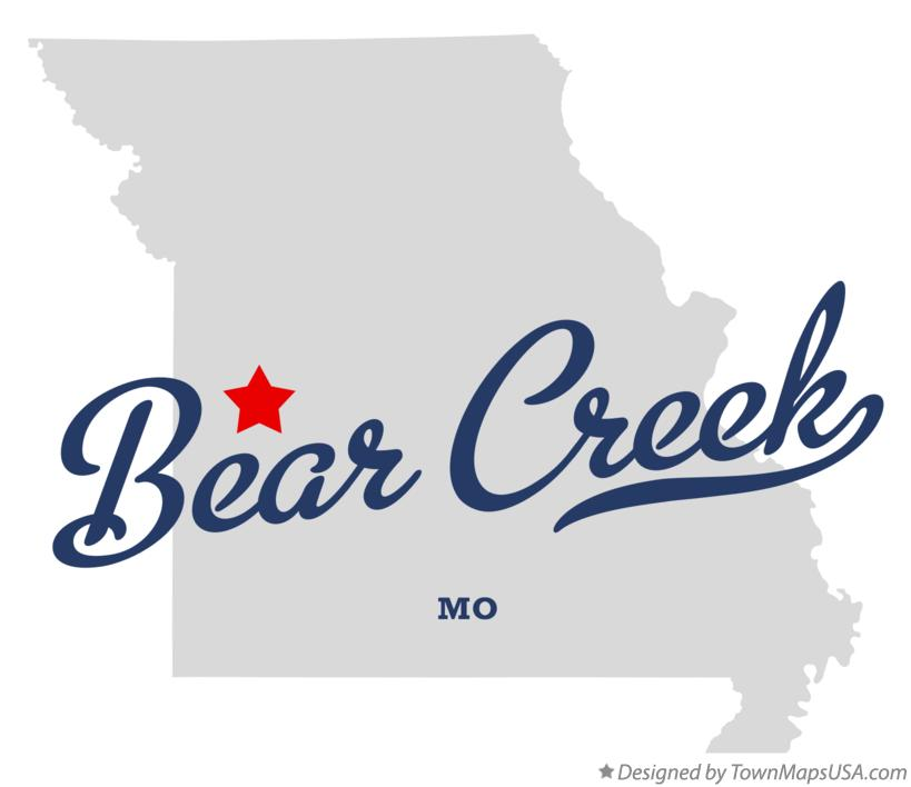 Map of Bear Creek Missouri MO
