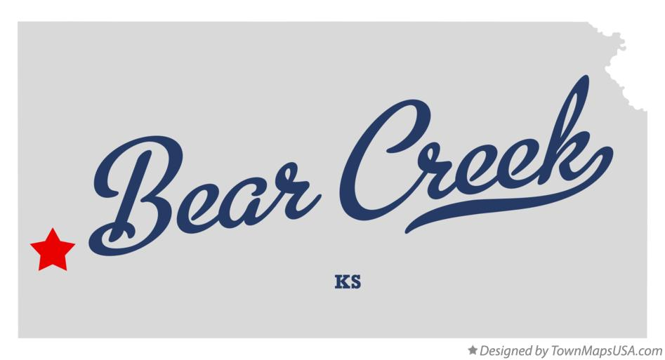 Map of Bear Creek Kansas KS