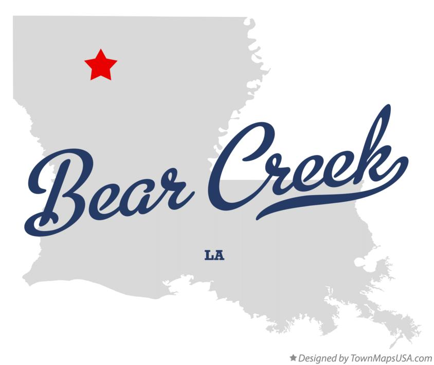 Map of Bear Creek Louisiana LA
