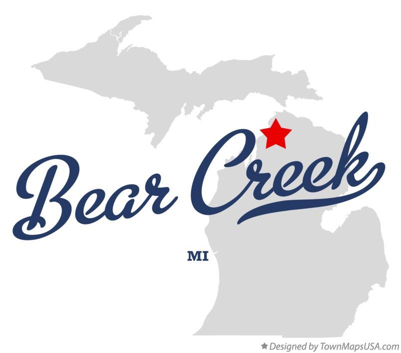 Map of Bear Creek, MI, Michigan