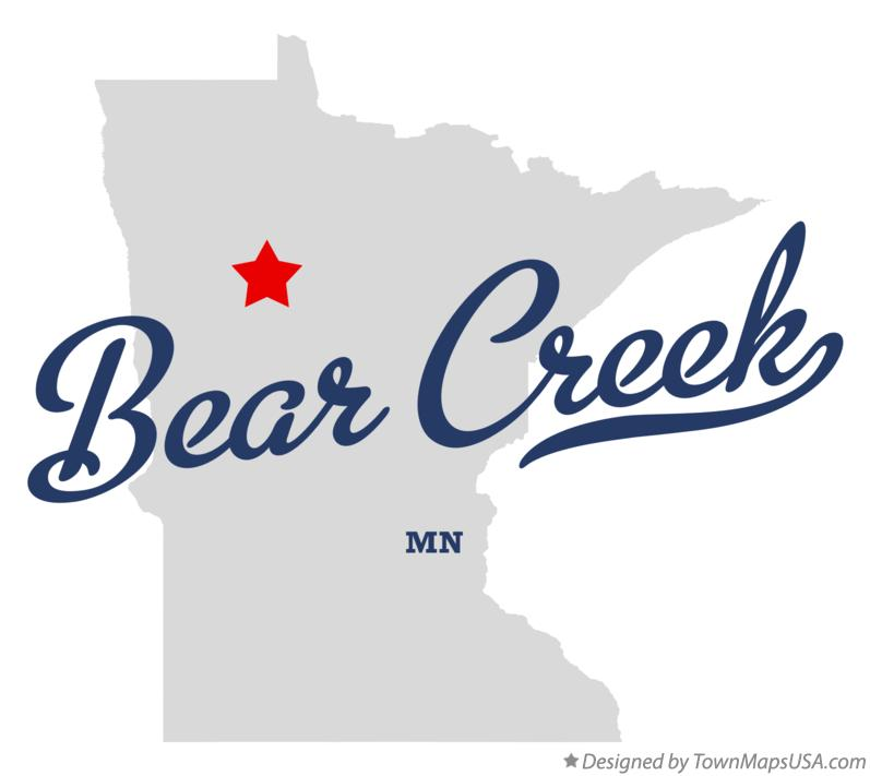 Map of Bear Creek Minnesota MN