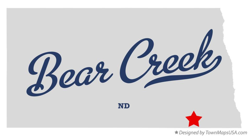 Map of Bear Creek North Dakota ND