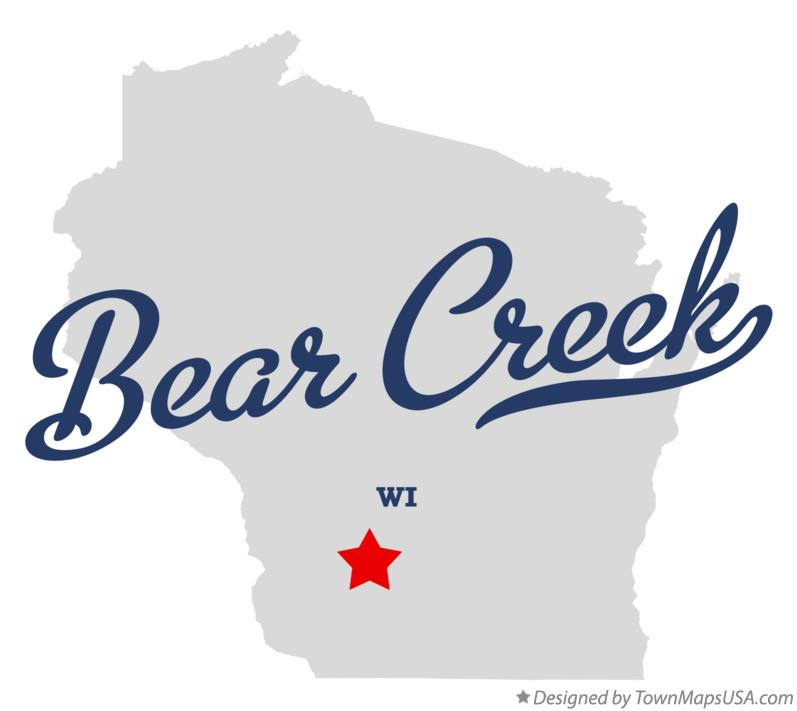Map of Bear Creek Wisconsin WI