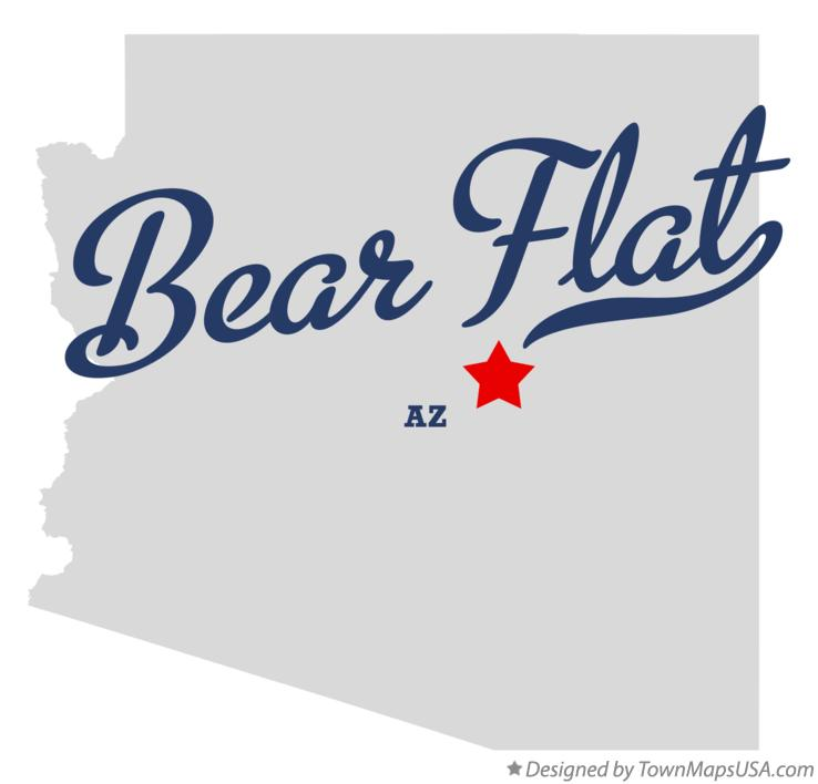 Map of Bear Flat Arizona AZ