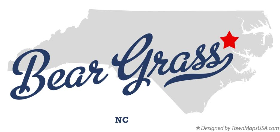 Map of Bear Grass North Carolina NC