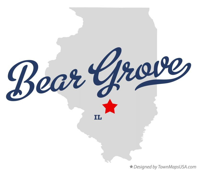 Map of Bear Grove Illinois IL