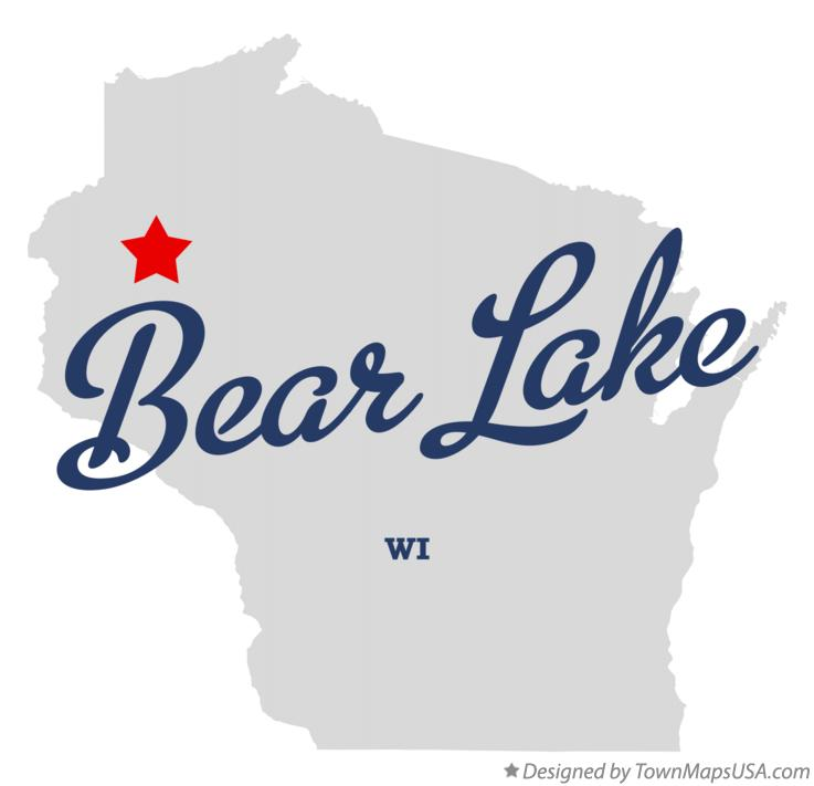 Map of Bear Lake Wisconsin WI
