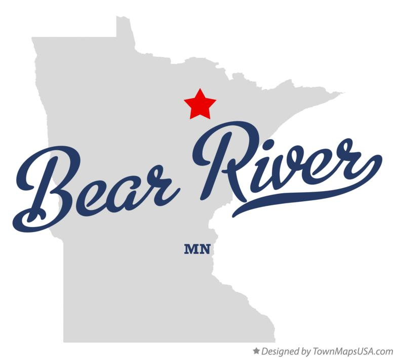 Map of Bear River Minnesota MN