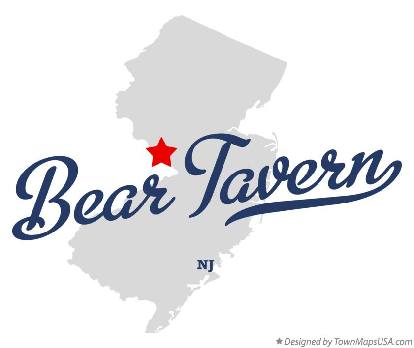 Map of Bear Tavern New Jersey NJ