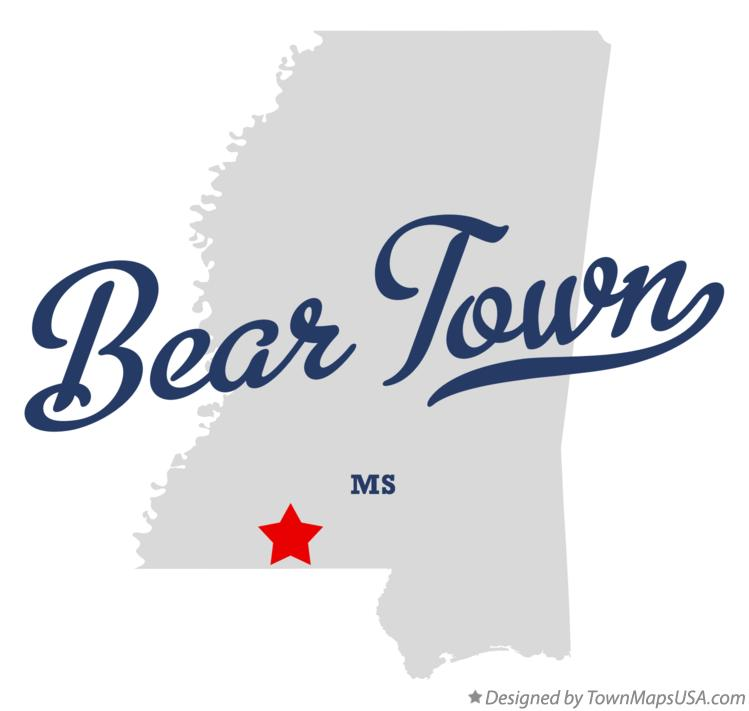 Map of Bear Town Mississippi MS