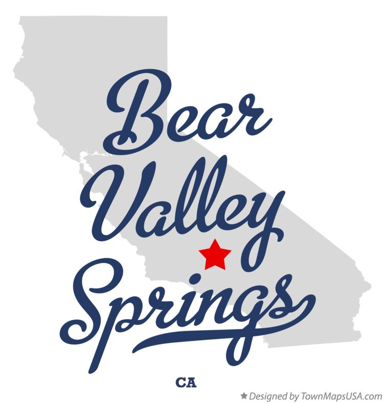 Map of Bear Valley Springs California CA