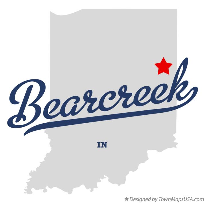 Map of Bearcreek Indiana IN