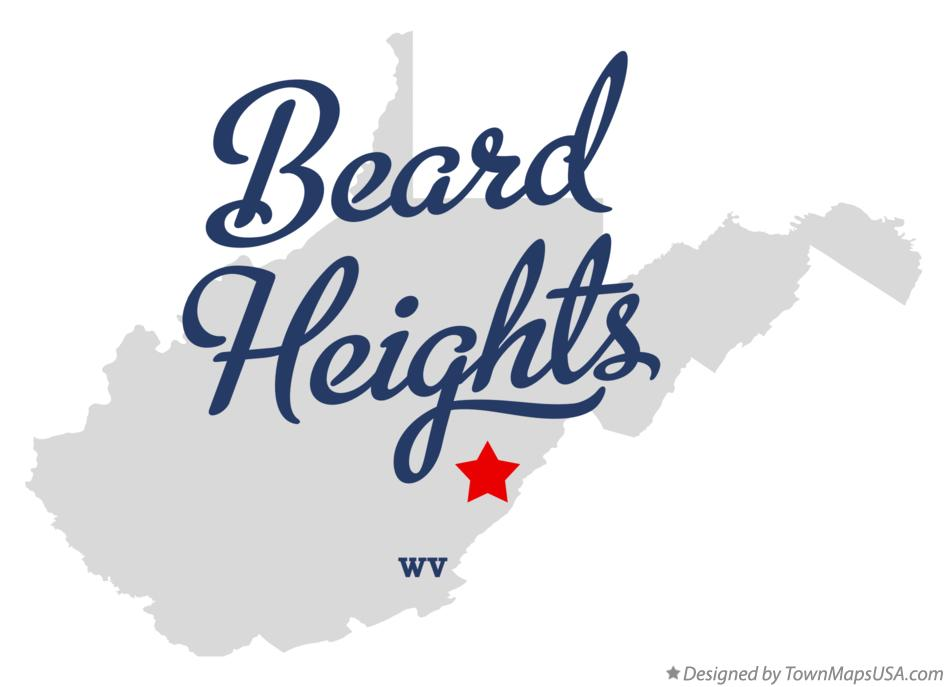 Map of Beard Heights West Virginia WV