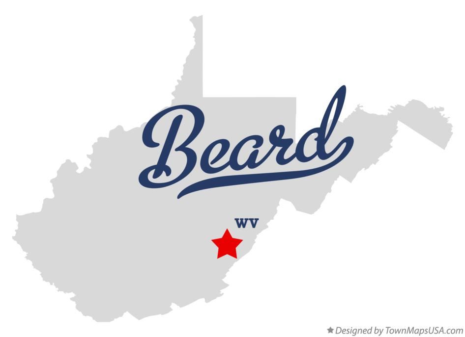 Map of Beard West Virginia WV