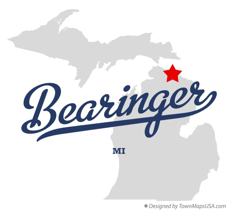 Map of Bearinger Michigan MI