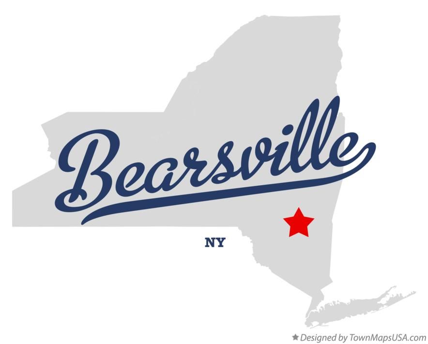 Map of Bearsville New York NY