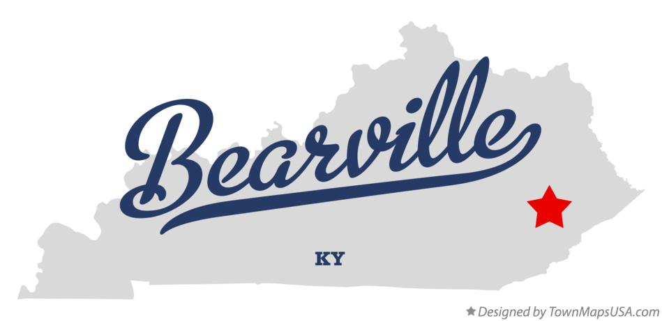 Map of Bearville Kentucky KY