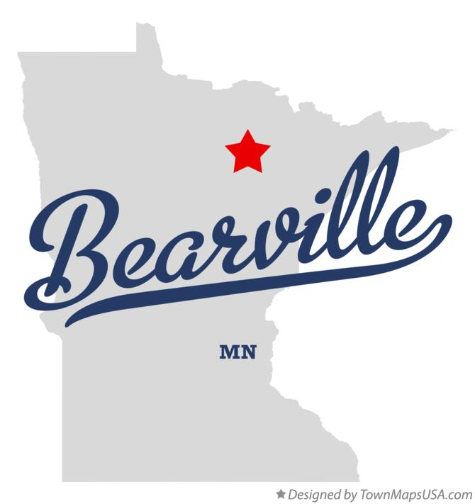 Map of Bearville Minnesota MN