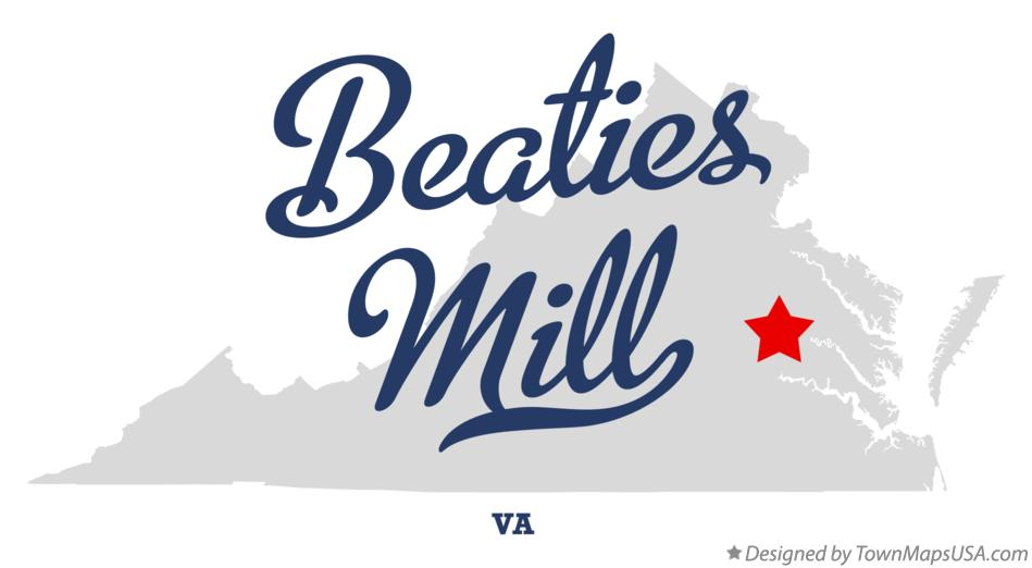 Map of Beaties Mill Virginia VA