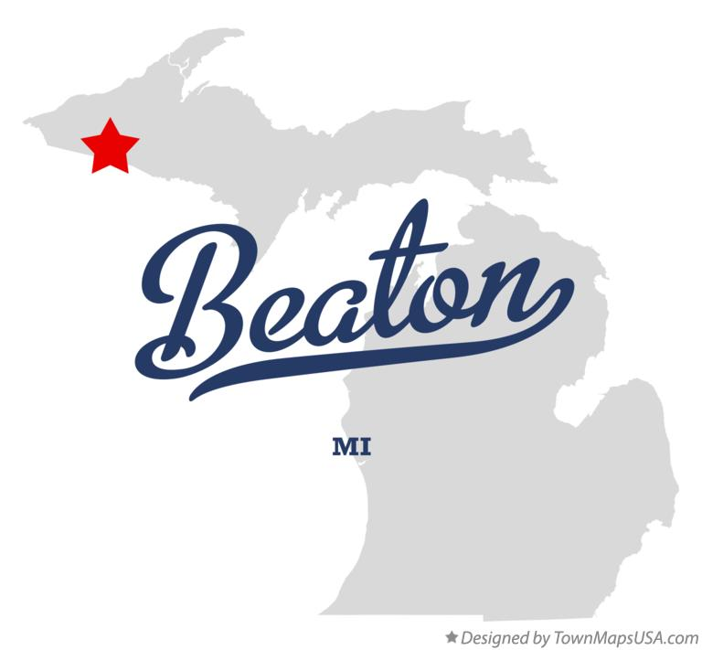 Map of Beaton Michigan MI