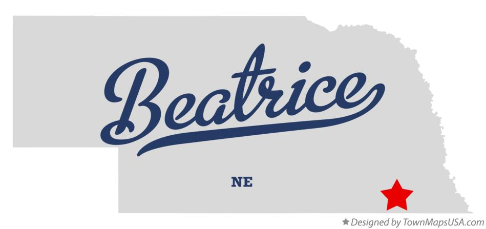 Map of Beatrice NE Nebraska