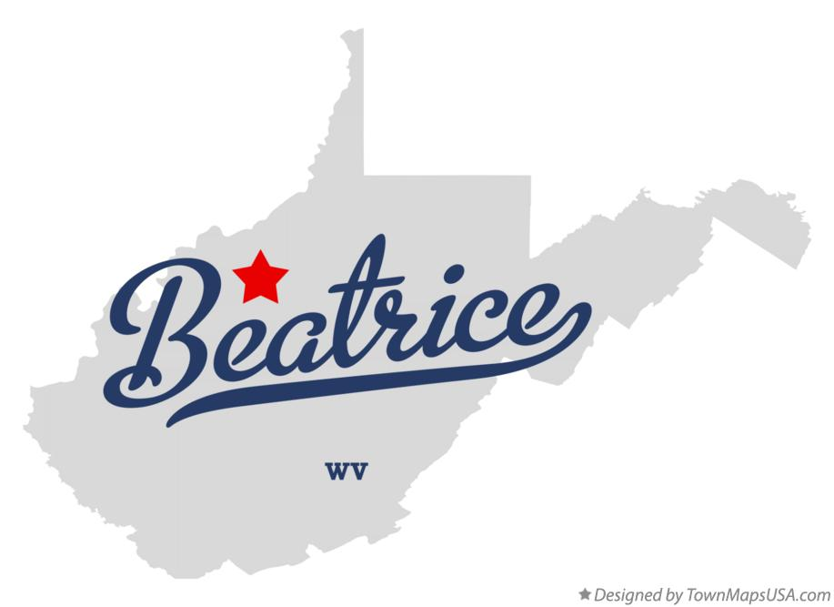 Map of Beatrice West Virginia WV
